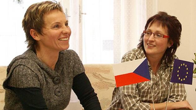 Manažerka projektu Směr budoucnosti Dana Marečková (vlevo).