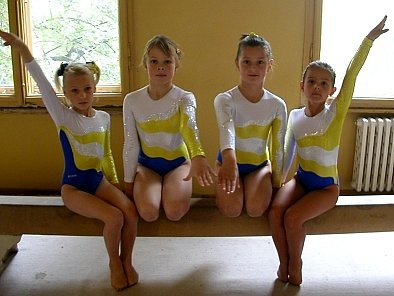 Chrudimské gymnastky.