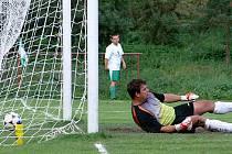 Třetí gól v síti Dřenic.