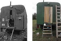 Občanské sdružení Boii s pomocí dobrovolníků likviduje škody, které ve vznikajícím archeoskanzenu způsobili vandalové.