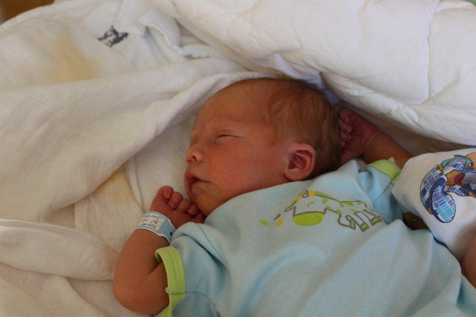 TOBIÁŠ KELLNER (3,56 kg a 51 cm) z Chrudimi se narodil 4.4. v 16:40.