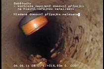 Kamera dokáže odhalit černé přípojky na kanalizační síť.