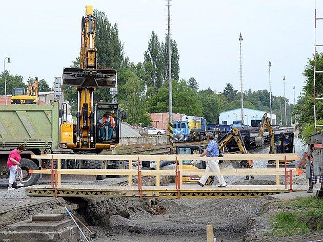 Rekonstrukce chrudimského železničního nádraží.