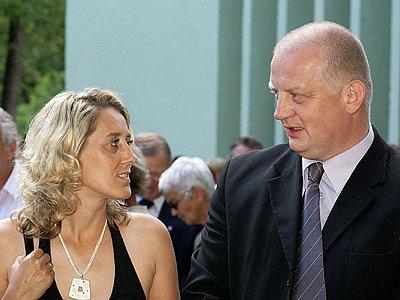 Starosta Chrasti Tomáš Vagenknecht s partnerkou.