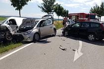 Dopravní nehoda u Rozhovic