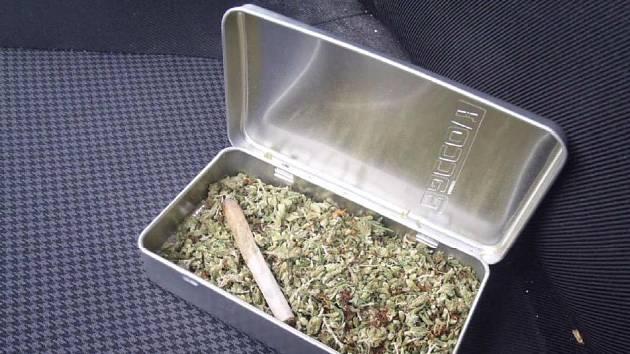 Strážníci u mladíka našli marihuanu.