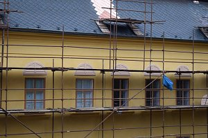 Listopadové opravy na zámku