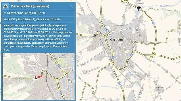 V Čáslavské ulici bude od pondělí kyvadlový provoz
