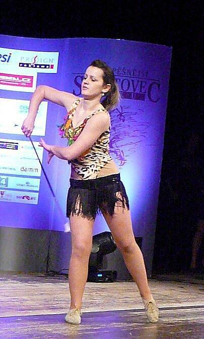 Barbora Novotná na pódiu názorně předvedla, proč je mistryní republiky v twirlingu.