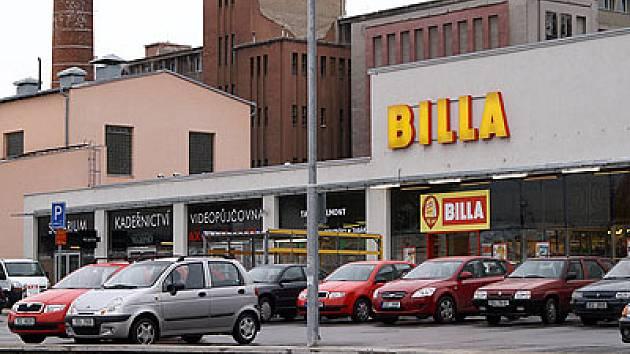 Supermarket Billa v Chrudimi.
