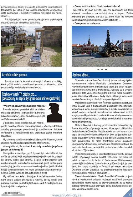 Aprílové vydání Chrudimského týdeníku - strana 2.