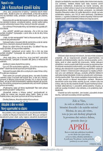 Aprílové vydání Chrudimského týdeníku - strana 3.