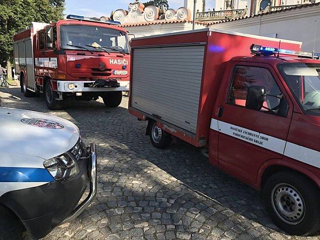 Pondělní zásah složek integrovaného záchranného systému v Luži.