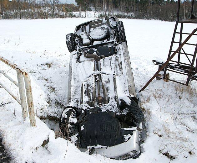 Dopravní nehoda u Lipiny.