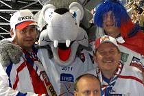 Byli jsme přímo přitom! Pozdrav ze super hokejové Bratislavy zasílá fanoušek Radek Kábele  z Trhové Kamenice.