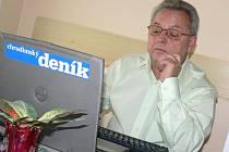 Ředitetel chrudimské nemocnice Vojtěch Němeček při online rozhovoru.