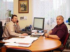 První muži radnice - vpravo starosta Miroslav Besperát a jeho zástupce Petr Schejbal