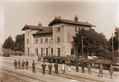 Hlinecké vlakové nádraží před rokem 1905