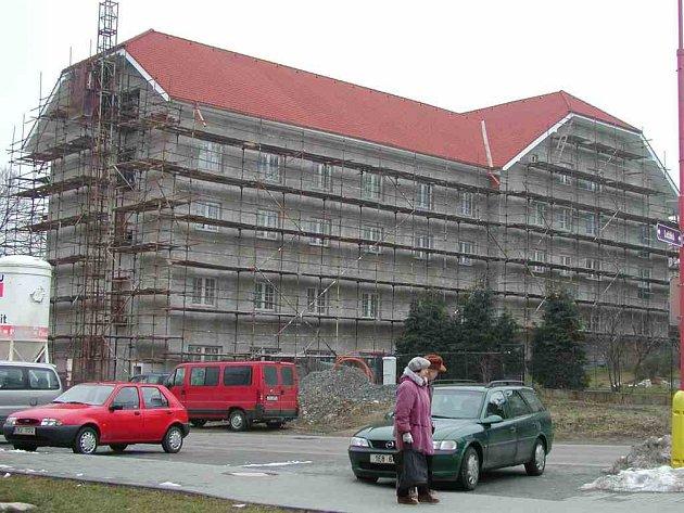 Stavba domova se blíží ke konci.