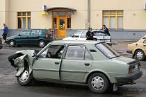 Dopravní nehoda u chrudimského nádraží.