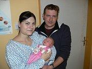 ADÉLA SOLILOVÁ. Z prvorozené dcery se radují Michaela a Roman z Chrudimi. Na svět přišla 3.11. ve 14:30 s váhou 3,03 kg a mírou 51 cm.