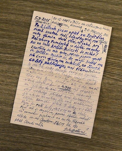 "Dopis od ""Komety"" doručený do redakce."