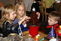 Čokoládový víkend děti pobavil i potěšil.