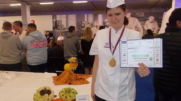 Diana Peškeová z Hlinska si přivezla stříbrnou medaili