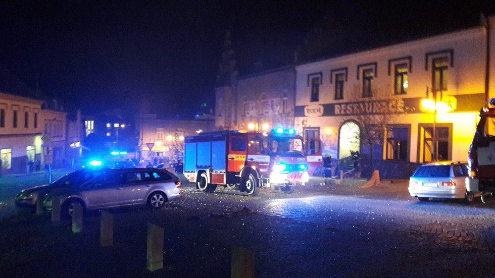 Noční zásah hasičů v Hlinsku