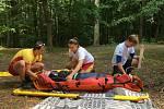 Výcvik vodních záchranářů na Seči