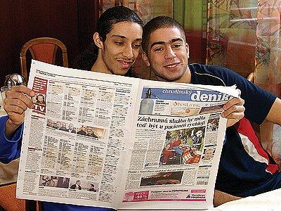 Belgičtí hráči se zajímali o futsalovou fotostránku Deníku