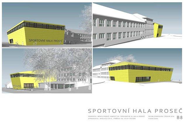 Studie sportovní haly v Proseči