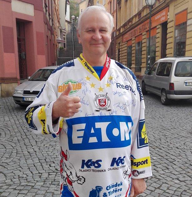 Vítěz hokejové Tip ligy Jan Hromádko.