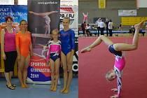 Sokol Chrudim reprezentovaly na MČR jednotlivkyň ve sportovní gymnastice tři závodnice. Desetileté Sáře Kulhavé (vpravo) unikla o 0,15 bodu bronzová medaile.