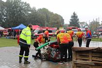 Soutěž v požárním útoku v Morašicích.