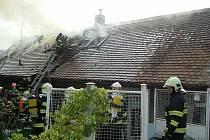 Požár rodinného domu v Heřmanově Městci