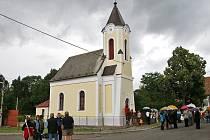 Přestavlky navštívil biskup Dominik Duka u příležitosti oslav stého výročí zdejší kaple.