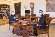 Starosta Chrasti Krňanský u prezidenta Miloše Zemana.
