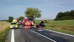 Tragická nehoda u Chroustovic na Chrudimsku.