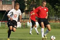 Z přípravného utkání MFK Chrudim - FC Hradec Králové junioři 0:0.