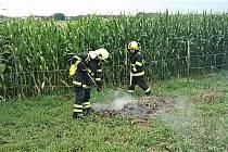 Hasiči zasahovali u požáru ohniště v Medlešicích