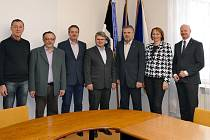 Chrudim navštívil primátor a jeho zástupce zpartnerského slovenského města Svidník
