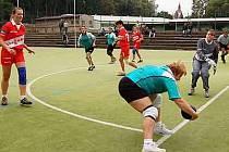 Z utkání ženské ligové házené Hlinsko - Přeštice.