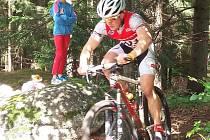 Milan Žemlička při závodech v Jablonci.