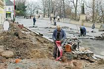 Oprava Široké ulice v Chrudimi.