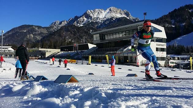 Milan Žemlička na závodech v Hochfilzenu