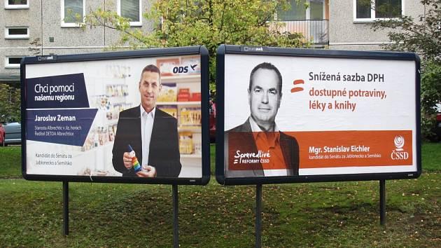 V senátním finále se v Jablonci nad Nisou utkají občanský demokrat Jaroslav Zeman a sociální demokrat Stanislav Eichler.