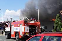 Požár způsobil škodu zhruba dva miliony korun.