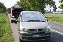 K doparvní nehodě došlo za Chrudimí za odbočkou na Tři Bubny.