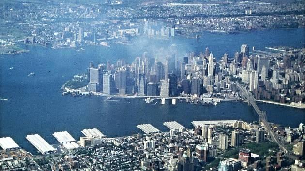 Oldřich Černý během své návštěvy New Yorku. Chrudimský cestovatel se stal přímým svědkem teroristického útoku 11. září 2001..